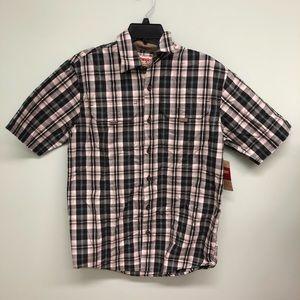 Wrangler Plaid Short Sleeve Shirt (PM924)